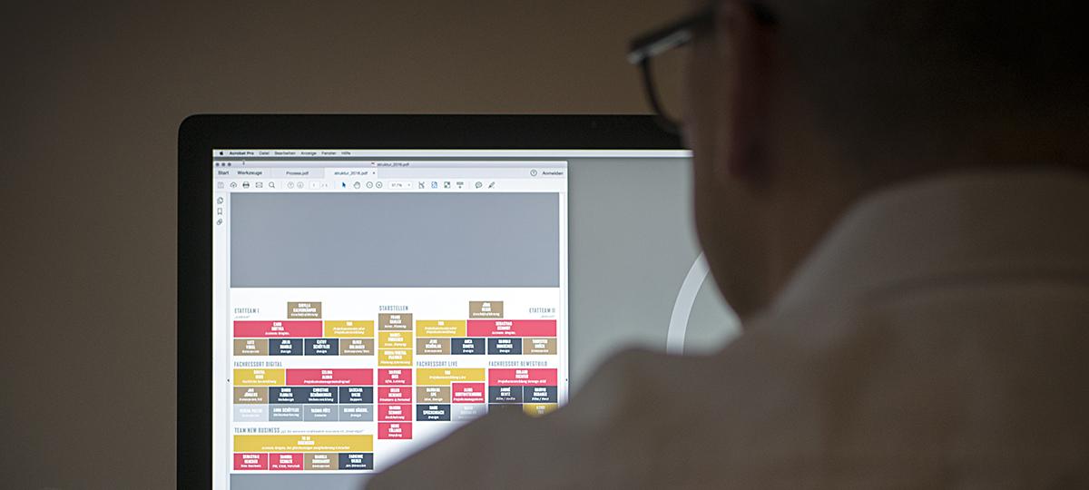 Organigramm am Computer